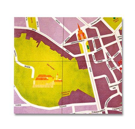 Ilustrovaná mapa Brna